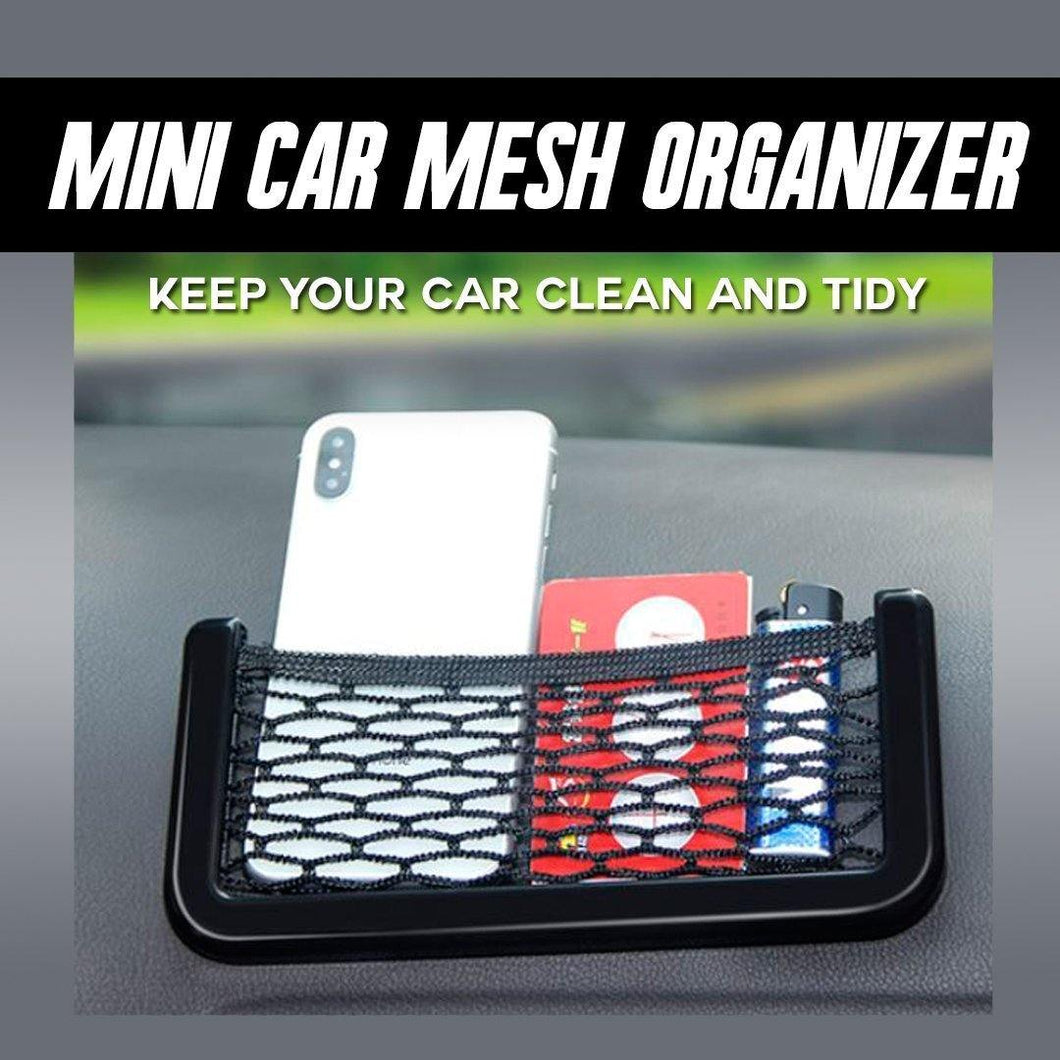 Mini Car Mesh Organizer