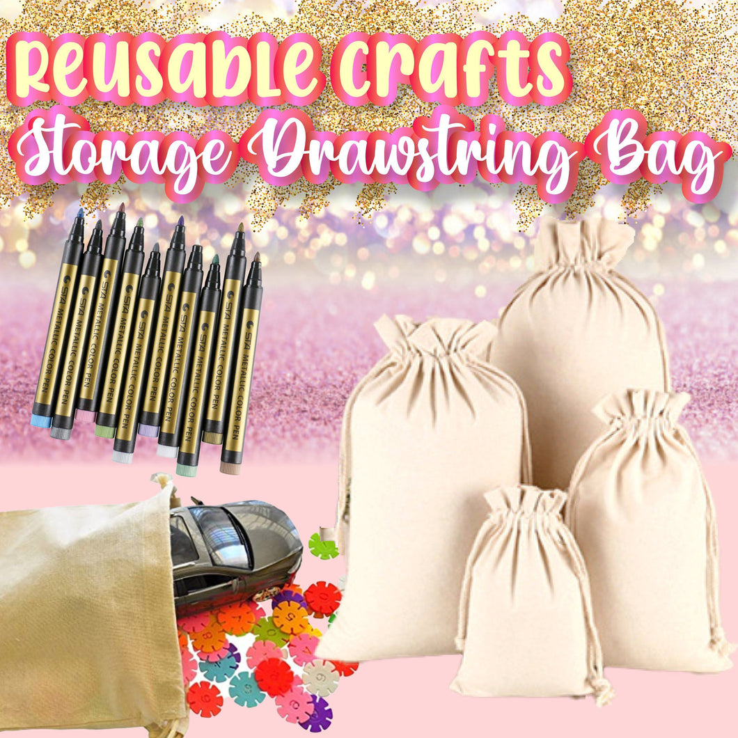 Reusable Crafts Storage Drawstring Bag 1688