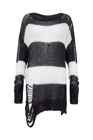 This beautiful 100% organic cotton knitted jumper is inspired by the balance of ying and yang.
