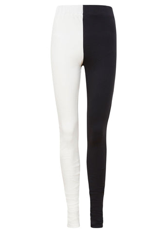 A classic vegan legging with a black and white twist.