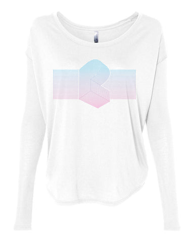 Pretty Lights - Women's Laser Cage Flowy Long Sleeve Tee