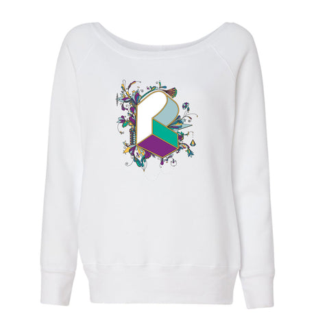 Pretty Lights - Sara Bott Women's Sponge Fleece Wideneck Sweatshirt