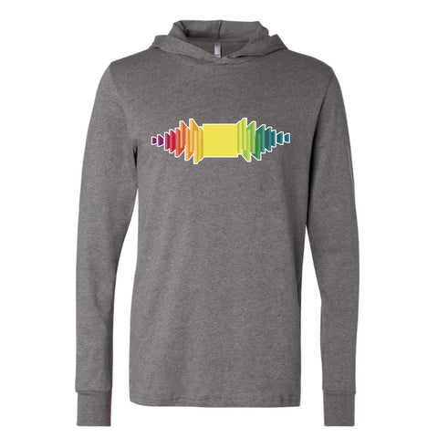 Pretty Lights - Boxhead Glow in the Dark Long Sleeve Hooded T-Shirt