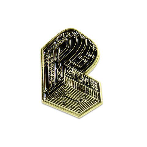 Pretty Lights - Grassroots Monogram Gold Pin