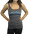Pretty Lights Retro Logo Women's Tank Top (Dark Grey) - Originally $25