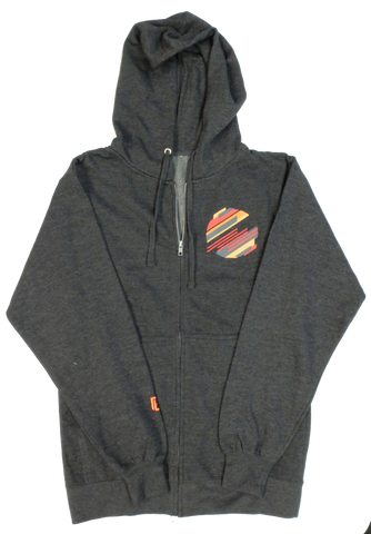 Pretty Lights Zip-Up Hoodie (Charcoal Heather)