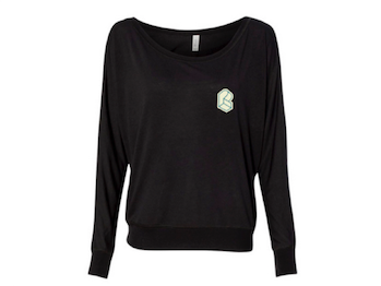 Pretty Lights - Women's Flowy Long Sleeve Off Shoulder Tee