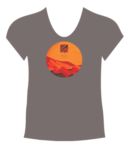 Red Rocks 2015 Women's T-Shirt (Dark Grey)