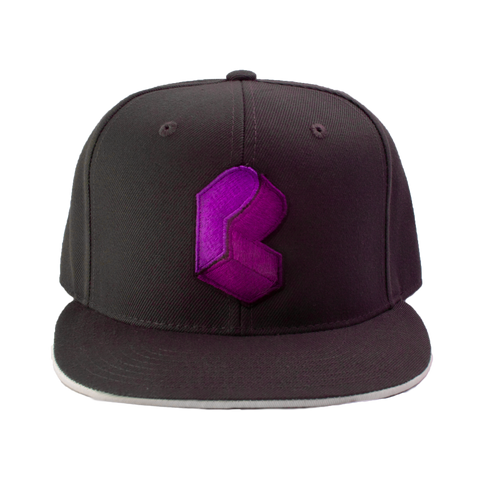 Pretty Lights - Monogram Fitted Hat - Grey & Purple