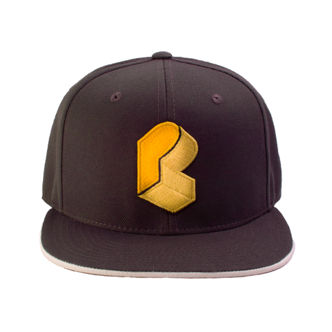Pretty Lights - Monogram Fitted Hat - Grey & Gold