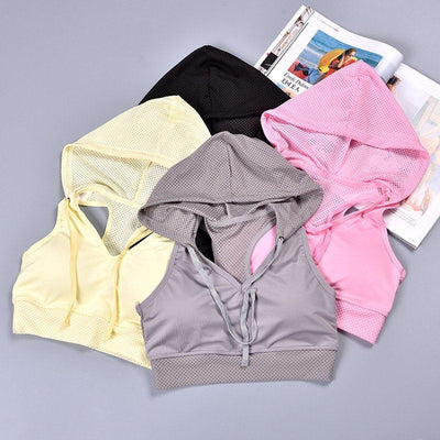 Buy Online Premium Quality and Stylish Sports Bra Hoodie, Mesh Hoodie with Sports Wear, Activewear for Women, Sweat Wicking Technology and 4-Way Stretch Technology, Sports Wear - ShBang.co