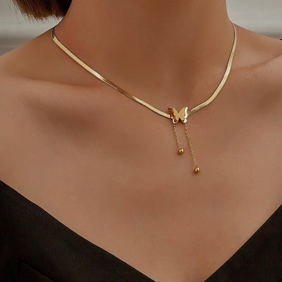 Buy Online Premium Quality and Stylish Gold Butterfly Pendant, Butterfly Necklace, Jewelry for Women, Fashion Jewellery, Gift for her, Designer Necklace - ShBang.co