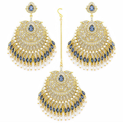 Buy Online Premium Quality and Stylish Exclusive Cultural Luxurious Earing & Head Set Wedding Bridal Pearl SABYASACHI UK - ShBang.co