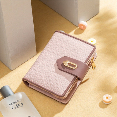 Buy Online Premium Quality and Stylish Pink Leather Women Purse Clutch Bag, Daily Carry Wallet, High-End Wallet with Wristband, Coin Purse - ShBang.co
