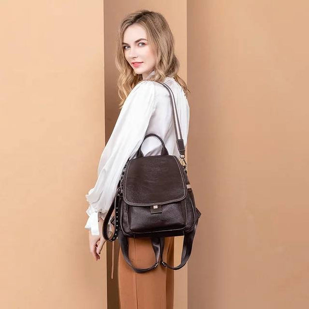 Buy Online Premium Quality and Stylish Hight End new Stylish Modern Elegant and Fashionable Women Backpack Dual Purpose Single Shoulder bag with Large Capacity - ShBang.co