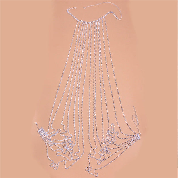 Buy Online Premium Quality and Stylish BELLY CHAIN - CRYSTAL Belly Chain - Bra Belly Chain - Festival Body Chain - Chain Jewelry - Sterling Chain - Multi Layer Tassel Waist Chain - ShBang.co
