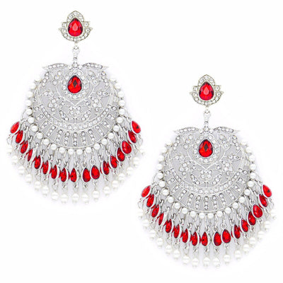 Buy Online Premium Quality and Stylish Luxurious Red Statement Earing - ShBang.co
