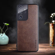 Buy Online Premium Quality and Stylish Aioria Leather Case Cover - for Samsung Galaxy S21 Plus Ultra Simple Classic Design - ShBang.co