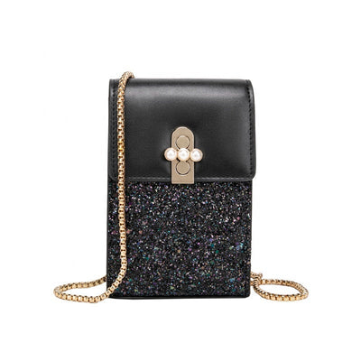 Buy Online Premium Quality and Stylish SMALL CROSSBODY BAG - Glittering Bag - Multi Functional Small Messenger Bag - Shoulder Crossbody Women Wallet - Women Accessories -Party Bag - ShBang.co