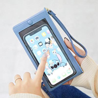 Buy Online Premium Quality and Stylish Stylish Transparent Phone Purse Wallet – Black Purse With Wristband - Women Accessories - Slim Women Wallet - Women Gift - ShBang.co