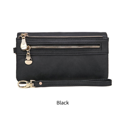 Buy Online Premium Quality and Stylish TRENDY PURSE - LEATHER  Design Clutch Purse - Black Leather Clutch Purse - Women Wallet - Phone Clutch Purse - Gift For Her - ShBang.co