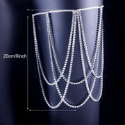 Buy Online Premium Quality and Stylish SEXY THIGH - Elasticity Rhinestone Leg Thigh Crystal Chain Women Partywear Crystal Leg Body Chain Jewelry Gift - Body Jewellery - ShBang.co