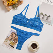 Buy Online Premium Quality and Stylish Women Wireless Thin Breathable Comfortable Underwear Solid Colour Lingerie Bralette Set - ShBang.co