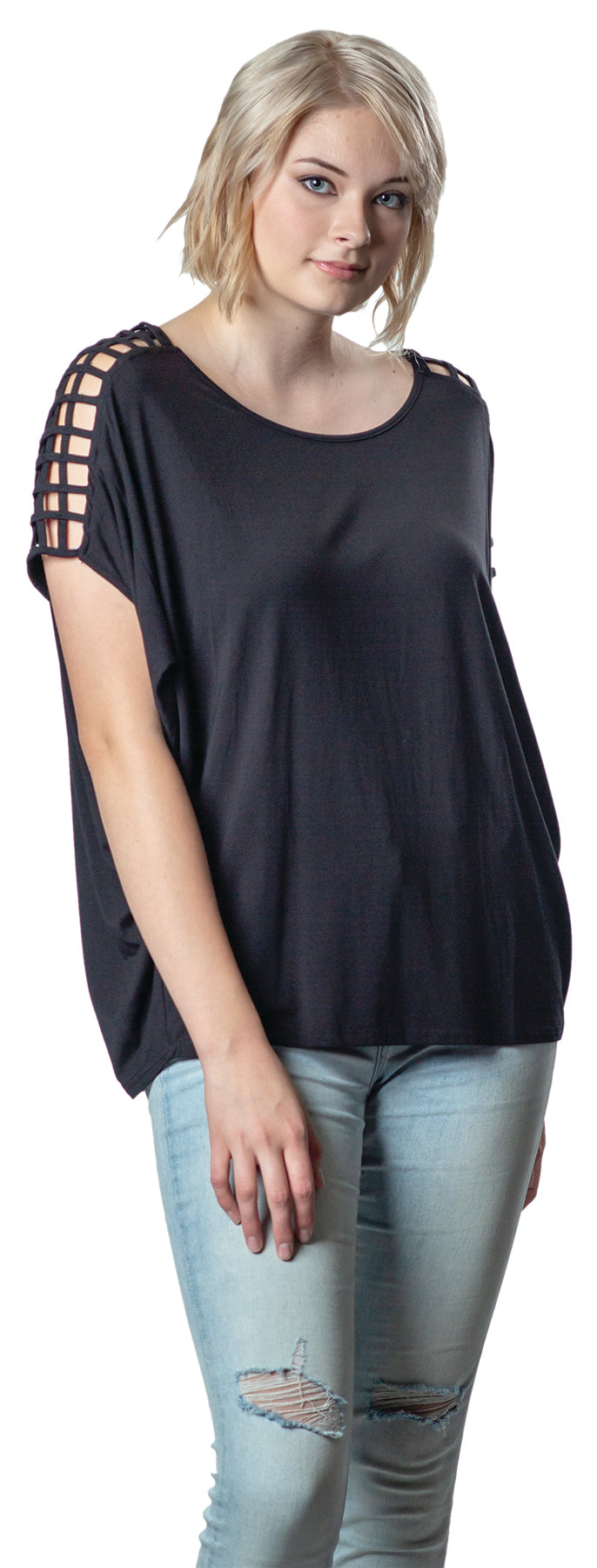 Bamboo 'Not So Cold Shoulder' Top