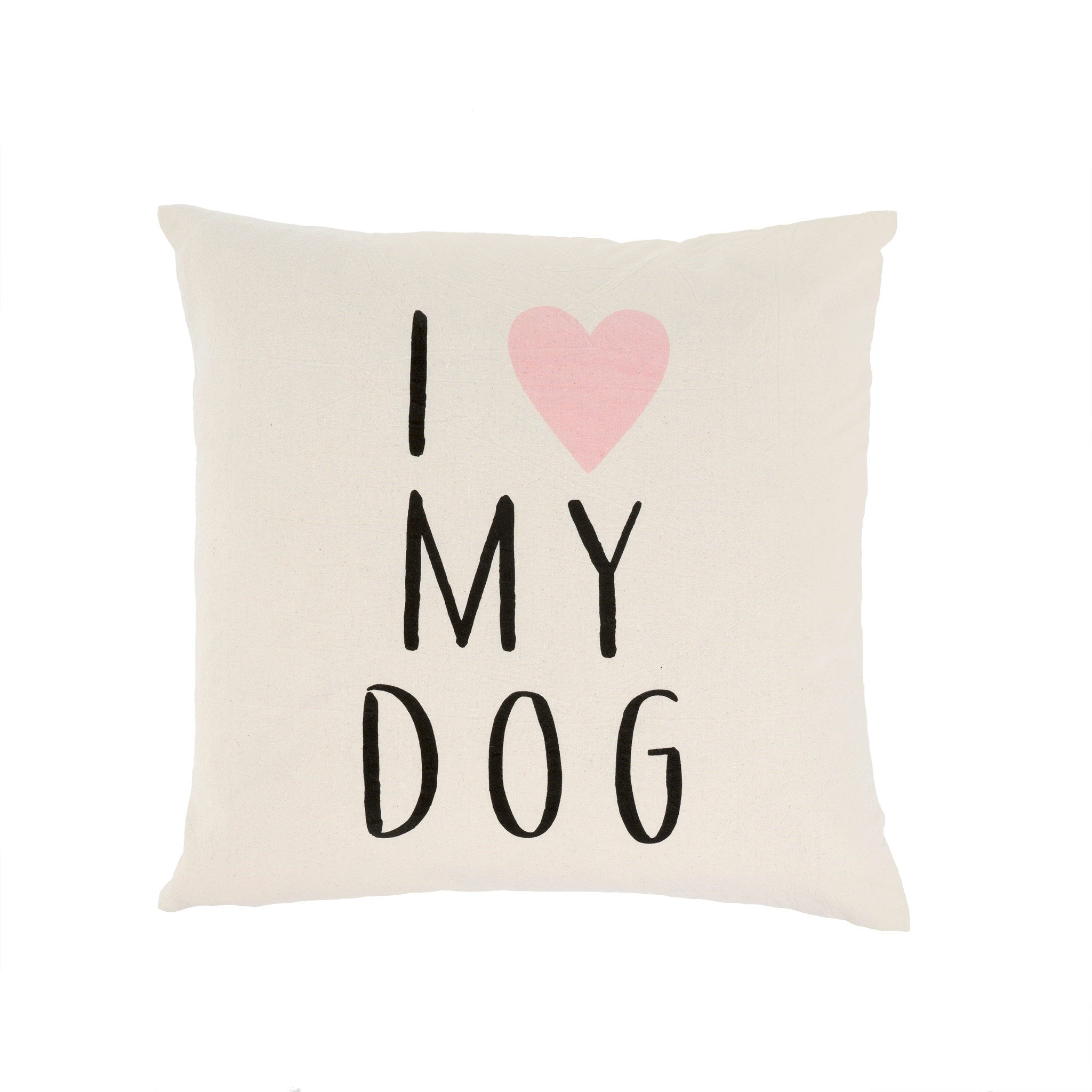 20x20 love my dog cushion