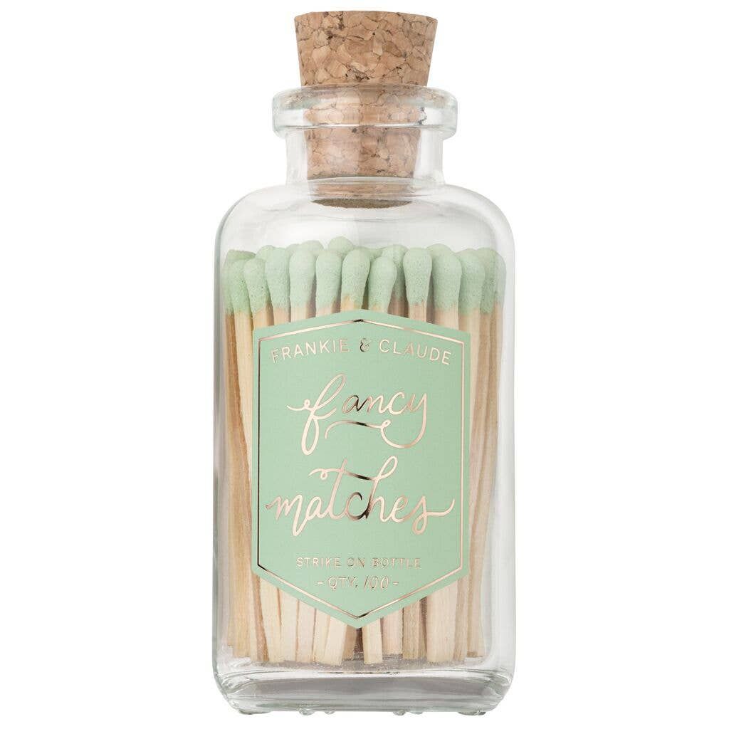 Fancy Matches: Mint Green Medium Match Jar