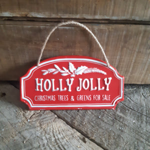 Holly Jolly ornament/mini sign