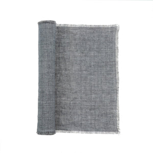 Linen Runner Steel Grey