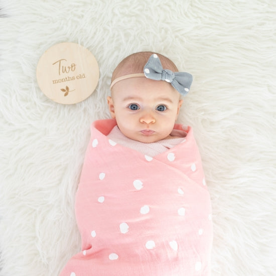 Rosy & Dewdrops Oh-So-Soft Muslin Swaddle Blanket