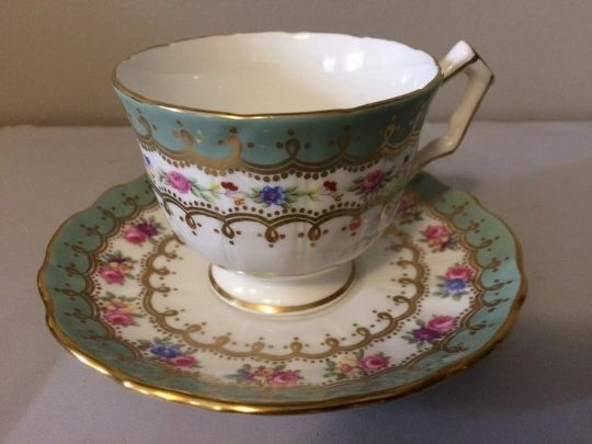Aynsley Green Teacup and Saucer