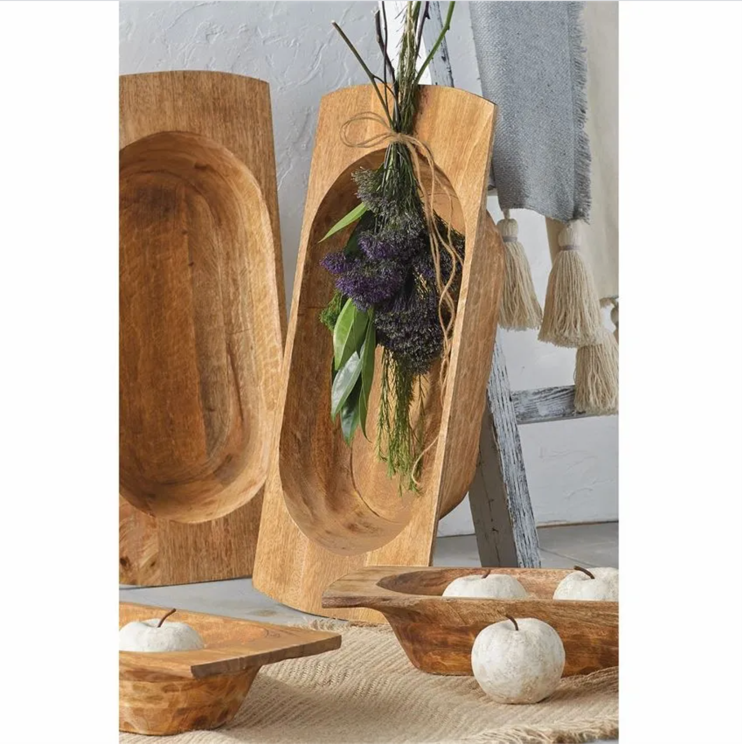 Wood Dough bowl (2 sizes)