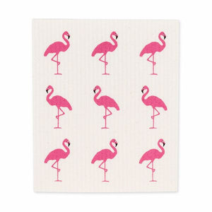 Swedish Dish Cloths Flamingo. Set of 2