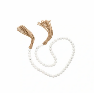Tassel Prayer Beads White