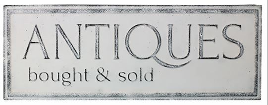 Vintage Metal Antiques bought & Sold sign