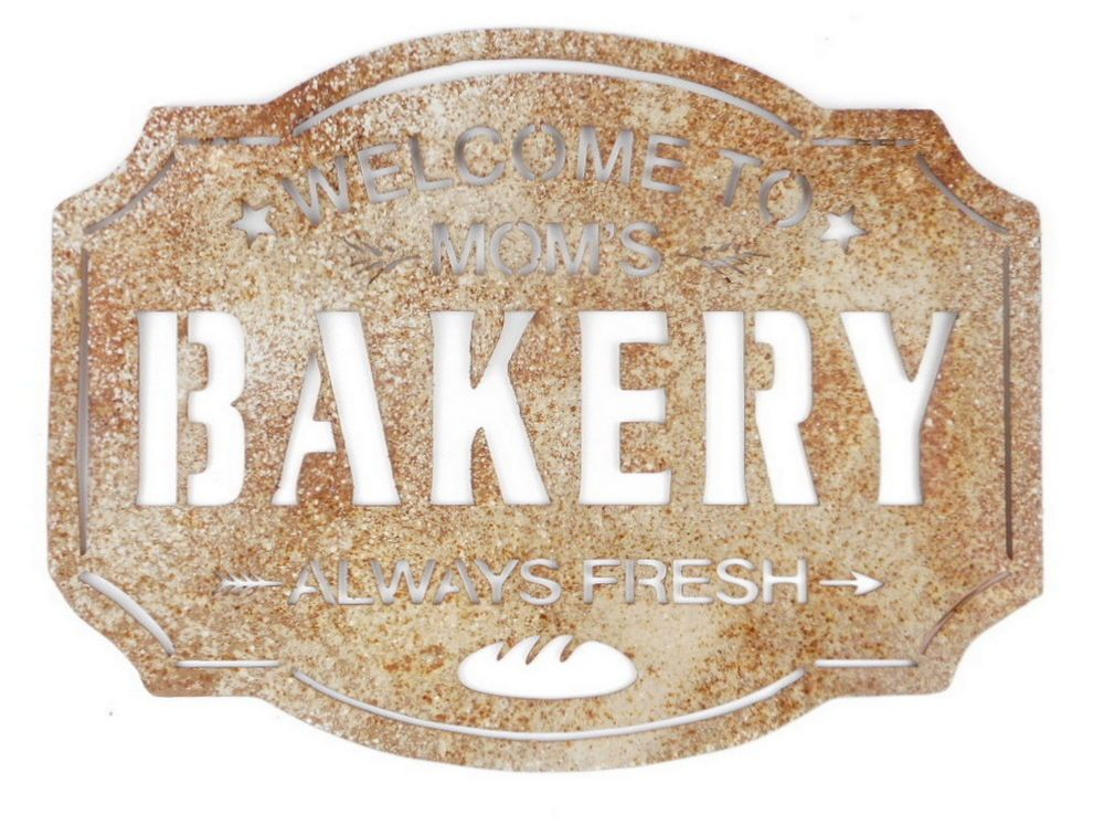 Mom's bakery sign
