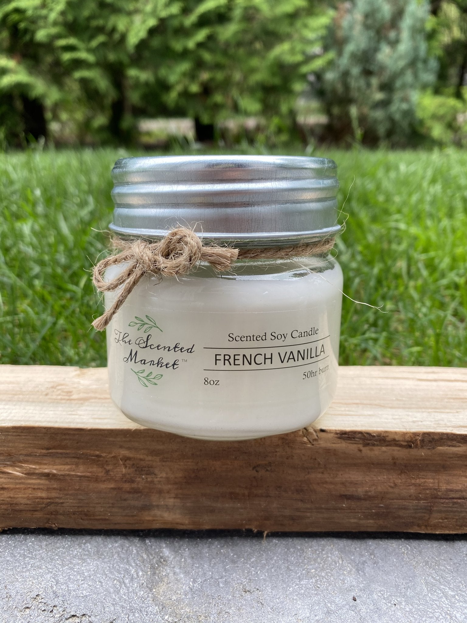 French Vanilla.  Soy wax candle 8oz