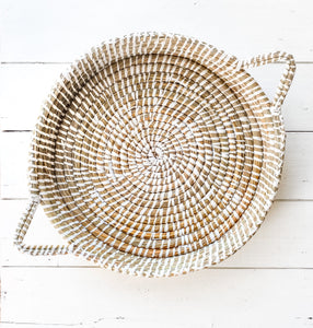 Straw Tray with Handles