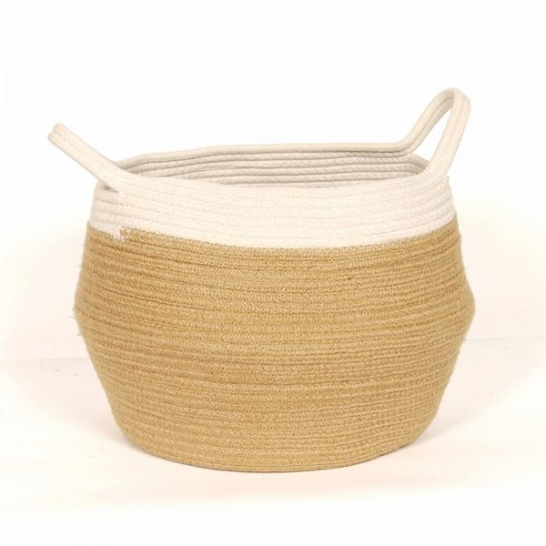 Cotton Jute Belly Basket