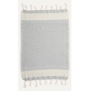 Hand Towel - Textured - Light Grey THTT2
