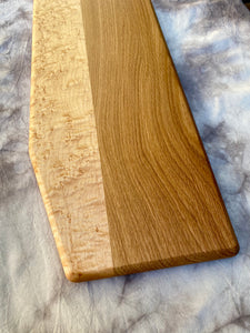 birdseye maple & white oak, large charcuterie board