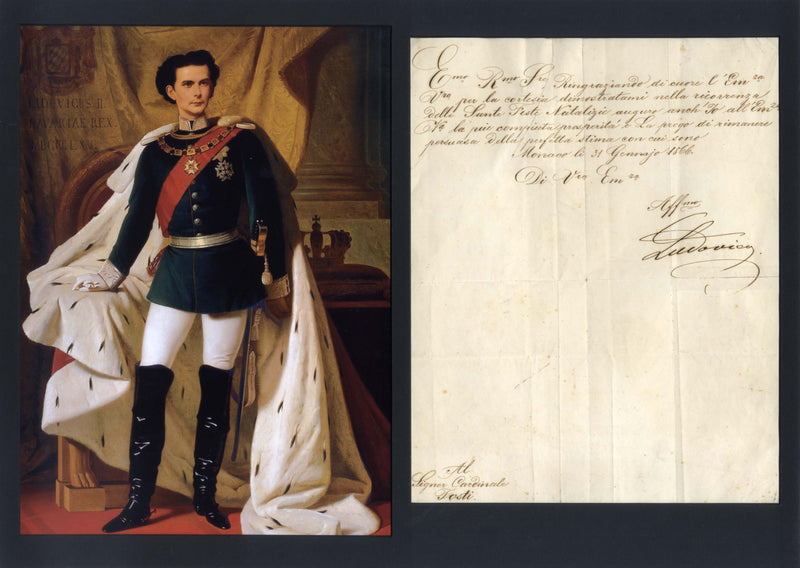 Ludwig II of Bavaria, King autograph
