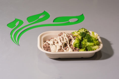 Garlic Aioli Beef, Rice & Broccoli