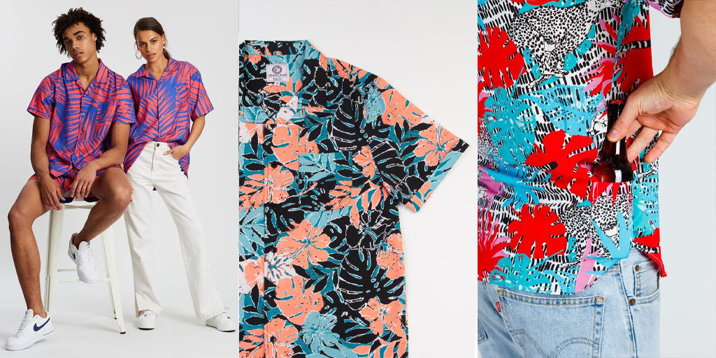 neon hawaiian shirt
