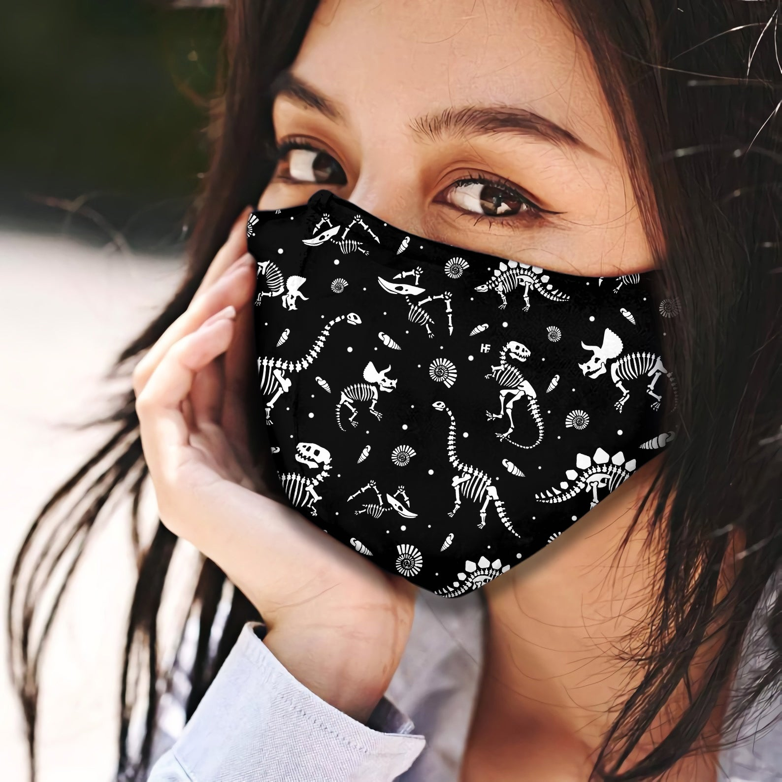 Dinosaur Pattern 3 EZ07 2005 Face Mask - Hyperfavor
