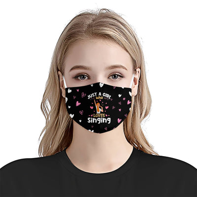 Premium Just A Girl Who Love Singing 01 EZ09 2205 Face Mask - Hyperfavor