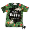 Sloths Make Me Happy EZ01 1703 All Over T-shirt - Hyperfavor